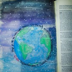 First Bible Journaling page! Great hobby and great way to connect with God! #biblejournaling #biblejournalingcommunity #biblejournal #idrawinmybible #favoriteverse #john1633 http://ift.tt/1KAavV3