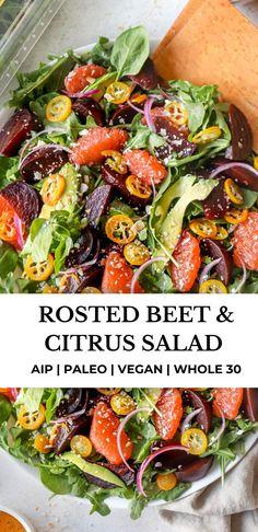 Roasted Vegetable Salad, Roasted Beet Salad, Roasted Vegetables, Paleo Vegetables, Veggies, Winter Salad Recipes, Beet Salad Recipes, Paleo Recipes, Whole 30 Salads