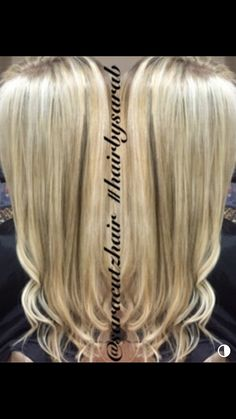 Highlight low light custom blonde hair long hair blonde hair & Blonde hair with highlights lowlights and a cool undertone | Hair by ...