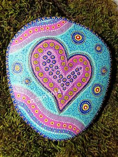 Love is all around - Painted Rock by stephaniel12345, via Flickr