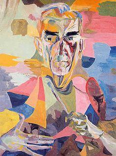 Auto-retrato. Flávio de Carvalho, 1965. Óleo sobre tela, 90,5 x 66,8 cm. Coleção MAM-SP.