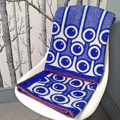 Manta de lana de cordero de patrón tejido de arándanos