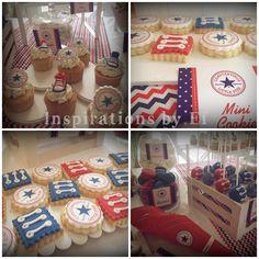Βάπτιση με θέμα το all star...διακόσμηση βάπτισης...christening...orthodox...candy bar... βαφτιστικό πακέτο...μαρτυρικά...λαμπάδα βάπτισης...μπομπονιέρες βάπτισης...προσκλητήρια... Candy Bars, All Star, Party Ideas, Cookies, Desserts, Wedding, Food, Chocolate Chip Bars, Crack Crackers