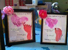 Valentines hand & foot print craft