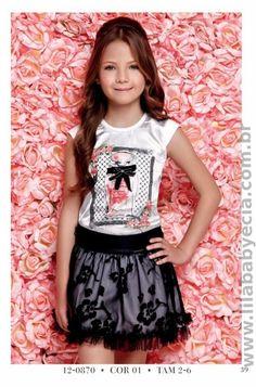 Conjunto BLUSA Infantil Com SAIA Diforini 120870