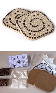 Manufacturer of micro ceramics Stones for Hobby & Craft ,Mosaic . Mosaic Crafts, Mosaic Art, Mosaic Glass, Stained Glass, Tree Stumps, Hobbies And Crafts, Home Deco, Coasters, Projects To Try