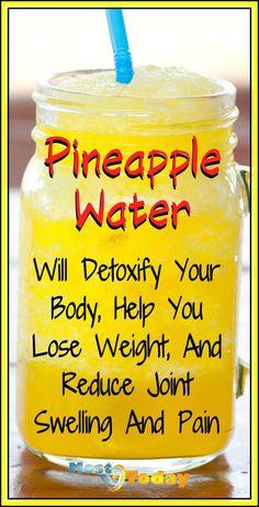 Weight Loss Cleanse, Weight Loss Help, Weight Loss Drinks, Healthy Weight Loss, Lose Weight, Fat Burning Tea, Fat Burning Detox Drinks, Pineapple Detox, Detoxify Your Body