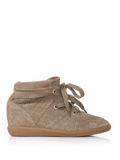 Bobby suede hidden wedge trainers | Isabel Marant |