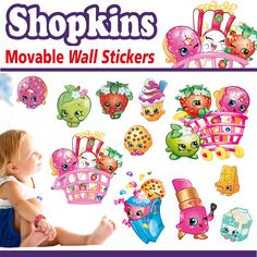 Shopkins Wall Stickers - Totally Movable - Jazz up a room in seconds Movable Walls, Lego Wall, Open Signs, Wall Borders, Cool Stickers, Shopkins, Toy Boxes, Fun Activities, Adhesive