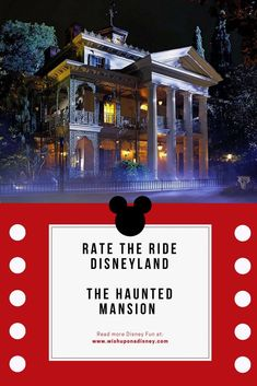 999 ghosts and ghouls, is the Haunted Mansion warm and fuzzy or child-friendly? Is it your favorite? Rate the ride and get your opinion counted! Disneyland Resort California, Disneyland Park, Disney World Secrets, Disneyland Secrets, All Disney Parks, Walt Disney, Cheap Disney Tickets, Disney Rides, Disney Travel