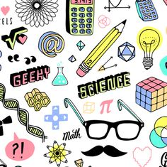 Geek Chic fabric by kristinnohe on Spoonflower - custom fabric