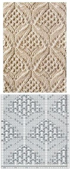 65 New Ideas crochet edging leaf stitch patterns Lace Knitting Stitches, Lace Knitting Patterns, Knitting Charts, Lace Patterns, Knitting Designs, Stitch Patterns, Tricot D'art, Gilet Crochet, Points