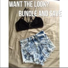 RedFox high waited shorts New without tags RedFox high waited shorts shredded in from perfect for this summer!️size S very stretchy 97% cotton 3% spandex can huddle any crop top or black bralette just let me know RedFox Shorts Jean Shorts