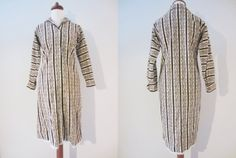 Tapestry Corduroy Long Sleeve Shirtdress by Miss Serbin, XS-S // Vintage Floral Winter Button Front Robe Dress Office Chic, Almost Always, Long Sleeve Shirt Dress, Shirtdress, Straight Cut, Vintage Floral, Frocks, Smocking, Corduroy