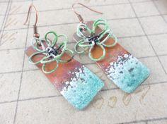 Dipped Rectangle Earrings