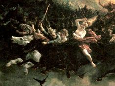 Odin leading the wild hunt on the longest night of the year.