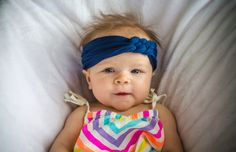 Royal Blue Cotton Lycra Knit Thick Sailor Knot by LucillePaige