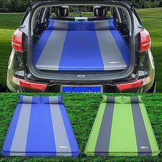 Car SUV Inflatable Travel #mattress Back Seat Sleep Rest Camping Cushion Air Bed #carcampingsuvairmattress #carcampingbedsuv