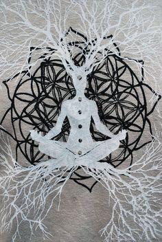 Flower of Life Heart Chakra / Tree of Life Hemp by TheLotusRoot