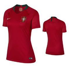 Nike Womens Portugal World Cup 2018 Soccer Jersey (Home): https://www.soccerevolution.com/store/products/NIK_41180_A.php