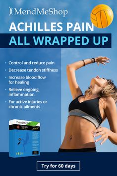 Achilles T-Shellz Wrap - deep tissue healing to help overcome achilles tendonitis, tendinosis, and torn tendon. Health Advice, Health And Wellness, Health Care, Health Fitness, Achilles Pain, Plantar Fasciitis Exercises, Natural Remedies For Arthritis, Chronic Pain, Fibromyalgia