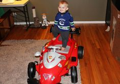 Wyatt and his car (14 months old here) | Flickr - Photo Sharing!