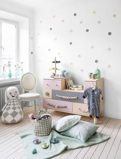 Pastel themed kids room