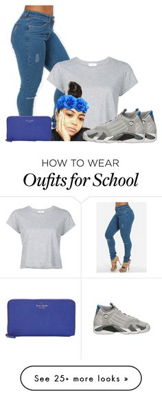 """""""Untitled #1054"""" by bubblesthegr8t on Polyvore featuring RE/DONE, Retrò and Kate Spade"""