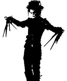 edward scissorhands silhouette - Google Search