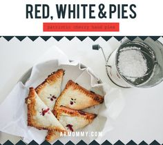 patriotic hand pies (recipe)    4th of july, red white and blue dessert  #raeannkellypins #rakpinparty