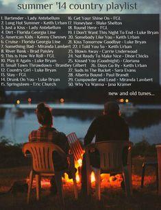 summer '14 country music playlist! #summer #summer2014 #countrymusic