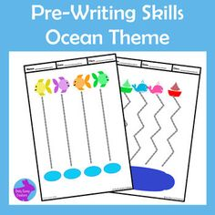 Pre-Writing skills write & wipe pages to develop drawing and handwriting fine motor skills for Pre-K & Kindergarten. 10 Ocean Fish Theme pages. Easy Prep- just print & laminate or pop in a page protector for your students to use with dry erase markers. Preschool Writing, Writing Activities, Fish Activities, Early Childhood Activities, Improve Your Handwriting, Handwriting Analysis, Learning To Drive, Pre Writing, Ocean Themes