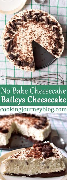 Baileys cheesecake is a creamy and rich dessert you need to treat your self! This is one of easy Irish desserts that you can make for St Patrick's day. Chocolate and Irish cream recipe that will not leave you unsatisfied! What's great, this is no bake che Baileys Cheesecake, No Bake Cheesecake, Cheesecake Recipes, Easy Irish Desserts, Irish Recipes, Best Cake Recipes, Whole Food Recipes, No Bake Desserts, Dessert Recipes