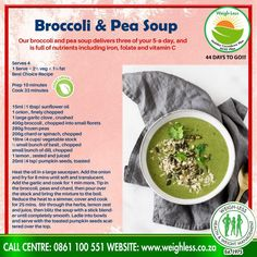Pea Soup, Sunflower Oil, Vitamin C, Broccoli, Soups, Healthy Recipes, Baking, Fruit, Food