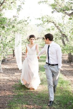 Romantic wedding ideas in a pear orchard,long hair brides, curls, floral crown, spring wedding, pacific brides, seattle, travel, natural, beautiful, beauty, bridal, weddings, ,updo