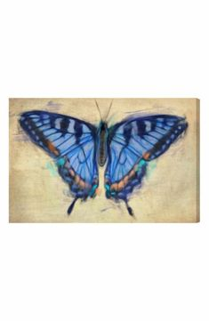 Oliver Gal 'Blissful Butterfly' Canvas Wall Art