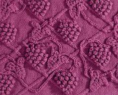 Чтобы не обижать любителей спиц и вам ВИНОГРАДНАЯ ЛОЗА ! / Вязание спицами / Вязание спицами для начинающих Lace Knitting, Knitting Stitches, Lacemaking, Knit Picks, Hobbies And Crafts, Pet Toys, Stitch Patterns, Tatting, Needlework