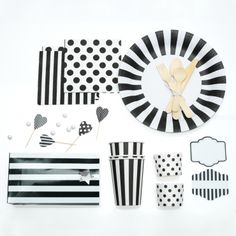Black & White Party In A Box by Cocodot  #FEELBEAUTIFUL #WHBM