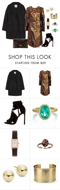 """""""metallic chic"""" by juliabartyzel on Polyvore featuring moda, American Vintage, Krizia, River Island, Chanel, Malcolm Betts, Rotary, Lord & Taylor i Blue Nile"""