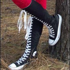 987fe8cd Converse Shoes - Converse Knee High Shoes Converse A La Altura De La  Rodilla, Botas