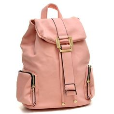 774bccf122 Dasein Faux Leather Drawsrting Accent Backpack with Side Pockets -  Overstock Shopping - Top Rated Dasein
