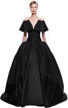 Taffeta Jacquard Gown by ZAC POSEN for Preorder on Moda Operandi