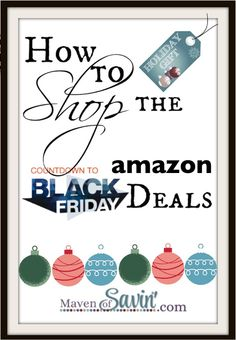 How to Shop the Amazon Black Friday Deals – NEW Watch List!  Get all the tips & tricks HERE including the HOT new Watch List you can use to create your own personal deals page.