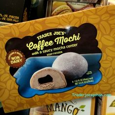 Trader Joe's Coffee Mochi 9.1oz $3.49 トレーダージョーズ コーヒーモチアイス  #traderjoes #mochi #coffee #vegan