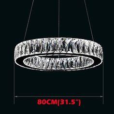 Crystal LED Pendant Light Lighting Modern Single Rings D80CM K9 Large Crystal Indoor Ceiling Lights Fixtures , 90-240V YMHM http://www.amazon.com/dp/B00X75JEWA/ref=cm_sw_r_pi_dp_kfkzwb0ZNV2C7
