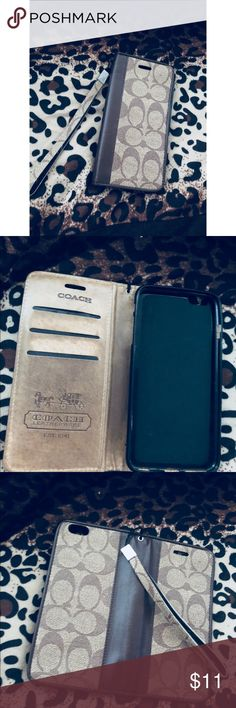 Coach iPhone 6plus case As been used , not flaws ! Will not fit a iPhone 7plus . Coach Accessories Phone Cases