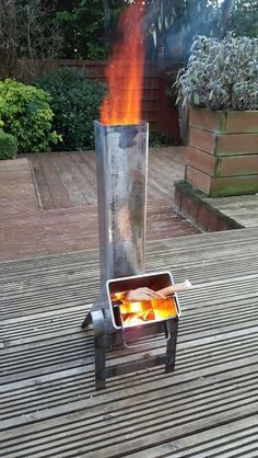 Hey Arny here yet another incarnation of Homemade rocket stove test firing.