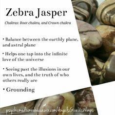 Zebra Jasper crystal meaning