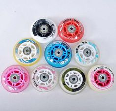 Buy [Recommend] Inline Skates Wheel Roller Skate Wheels for Kids Children, With Spacer and Bearing Online From China Skate Bearings, Roller Skate Wheels, Inline Skating, Roller Skating, Kids Sneakers, Brand Names, Skates, Number, Children