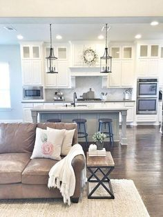 60 amazing farmhouse style living room design ideas (14)